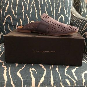 Frye perforated leather mule - Gray size 8
